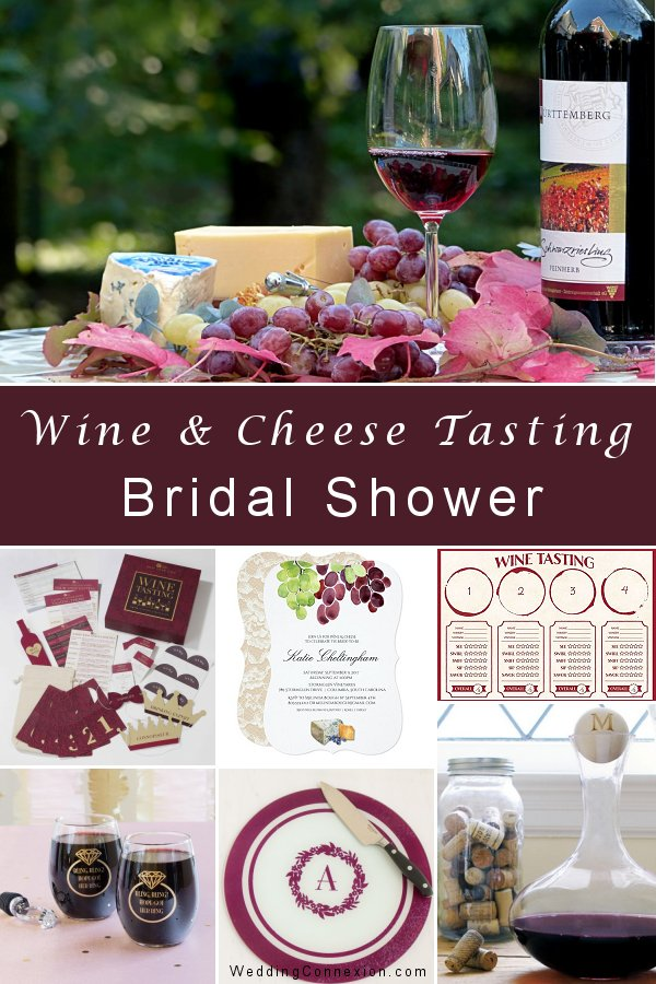 Wine and Cheese Tasting Bridal Shower Theme Ideas - Get inspired with delightful table decor ideas and favors for your guests - WeddingConnexion.com