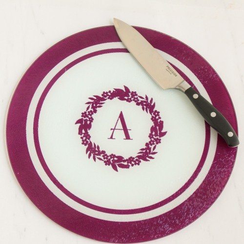 Wine and cheese tasting tempered glass cutting board