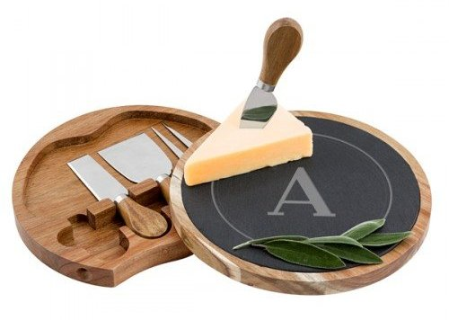 Slate and Acacia Cheese Board