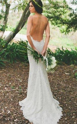Sleeveless Long Train Mermaid Wedding Dress