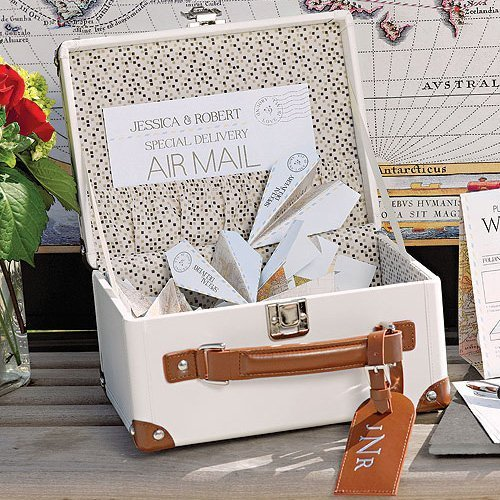 Mini Suitcase & Airplane Wishing Well Notes
