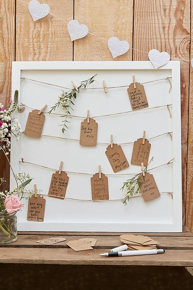Pegs and String Frame Alternative Guest Books