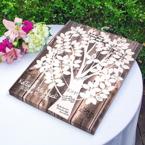 Family Tree Personalized Canvas Guest Book