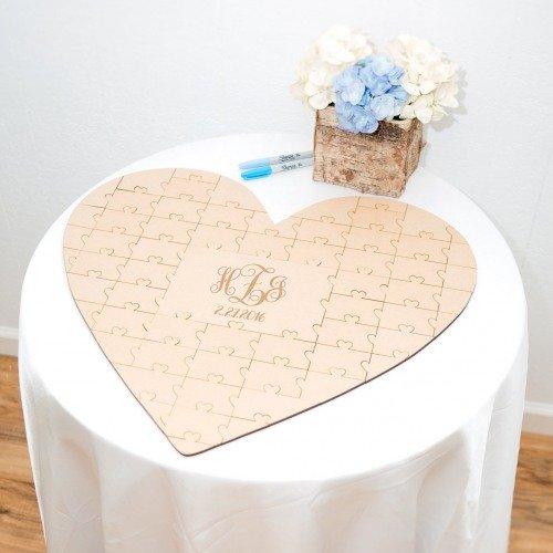 Personalized Heart Puzzle Guest Book