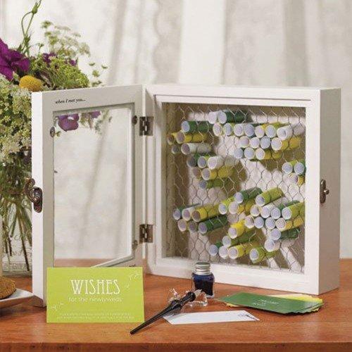 Alternative Wooden Wish BoxGuest Book
