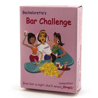 Bachelorette Party Bar Challenge Cards