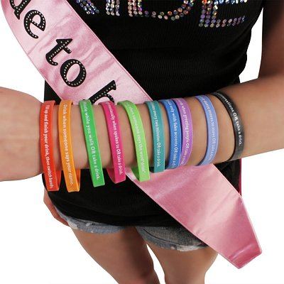 Bachelorette Party Buzzed Bands Drinking Game