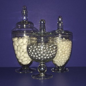 Candy Bar Small Apothecary Glass Jars