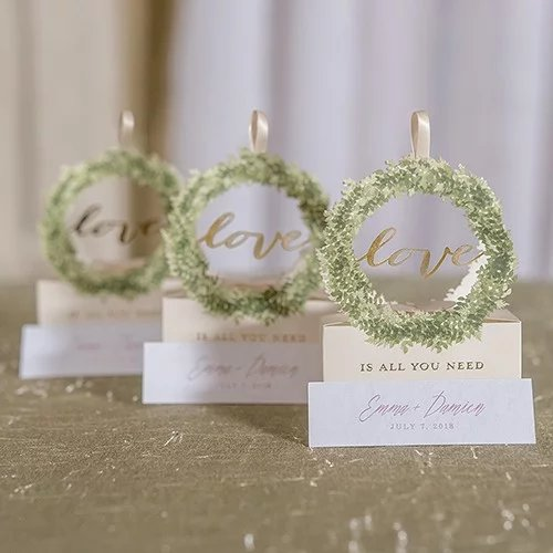 Love Wreath Themed Favor Boxes