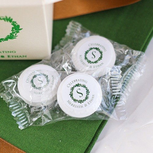 Wreath Themed Personalized Life Saver Candy Favors