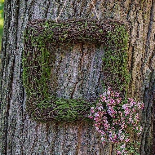 Rustic Moss Frame Wedding Decor
