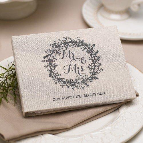 Rustic Wreath Wedding Guest Book