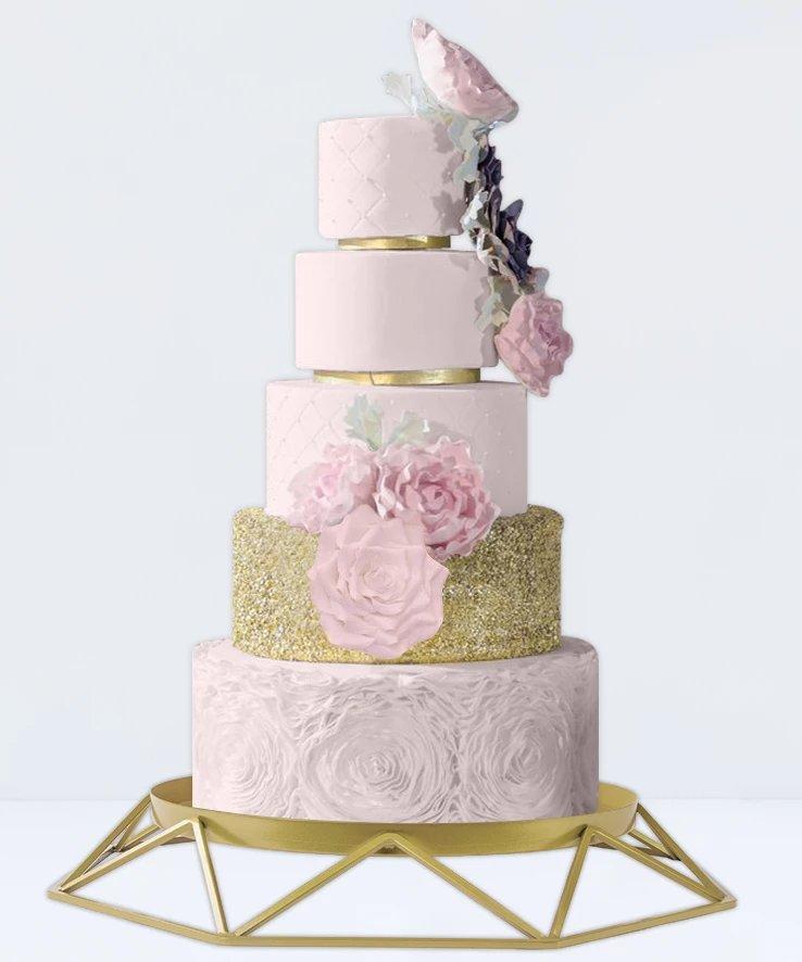 Modern Geometric Metal Cake Stand