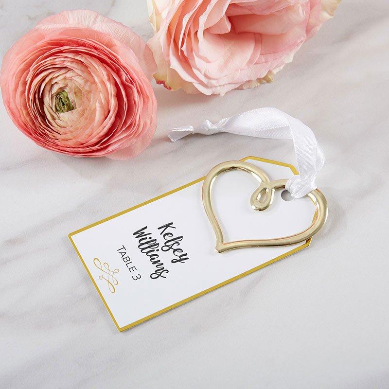 Modern Romance Gold Escort Card Idea