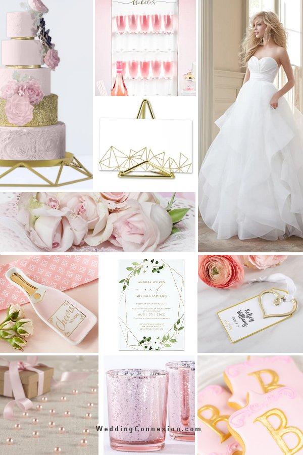 Pink and Gold Modern Wedding Romance  Inspiration - WeddingConnexion.com