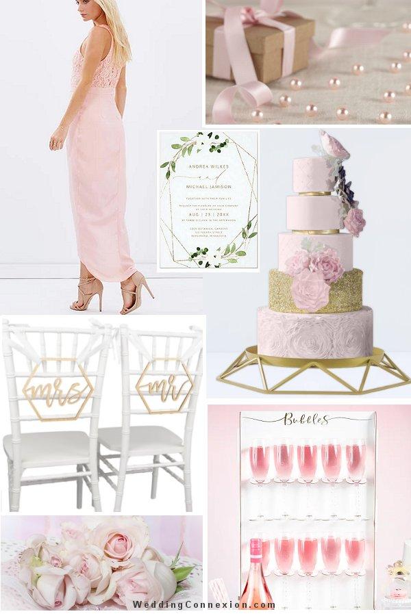 Pink and Gold Modern Wedding Romance Ideas - WeddingConnexion.com