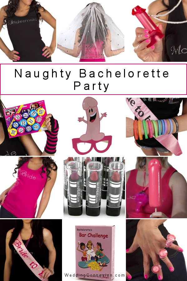 Get inspired with must-have accessories to jazz up your naughty bachelorette party. Your girls' night out should be one that  everyone wishes to forget!  Find amazing ideas at WeddingConnexion.com