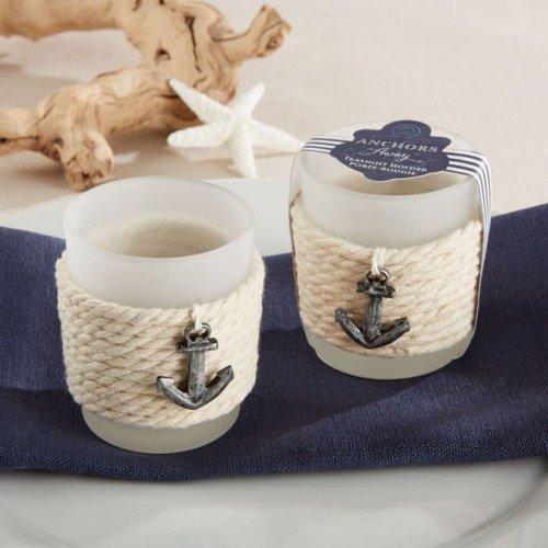 Anchor Rope Tea Light Holder Nautical Wedding Favors