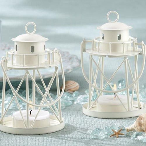Nautical Themed Wedding Lighthouse Tea Light Holder Favors
