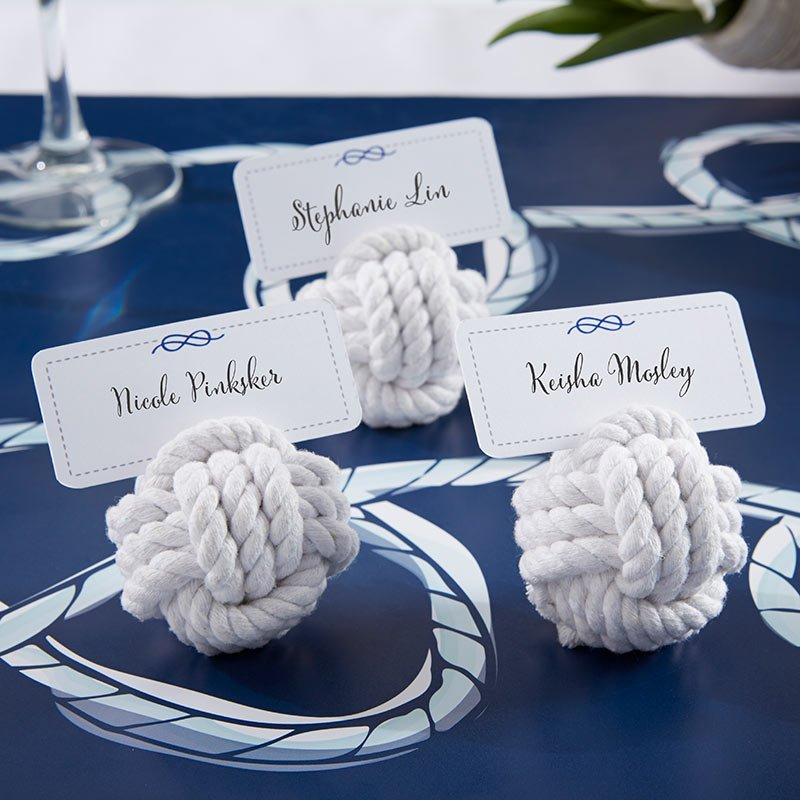 Nautical Rope Place Card Holder Nautical Wedding Favors