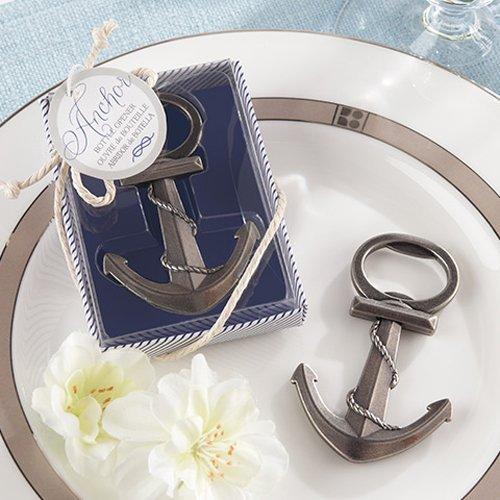 Nautical Themed Silver Nautical Bottle Opener Wedding Favor