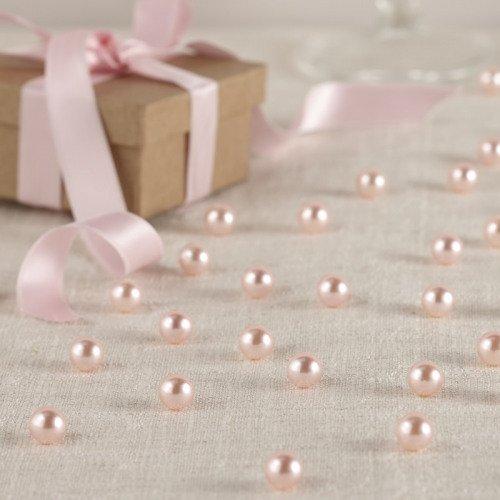 Pastel Pink Pearl Wedding Table Decor