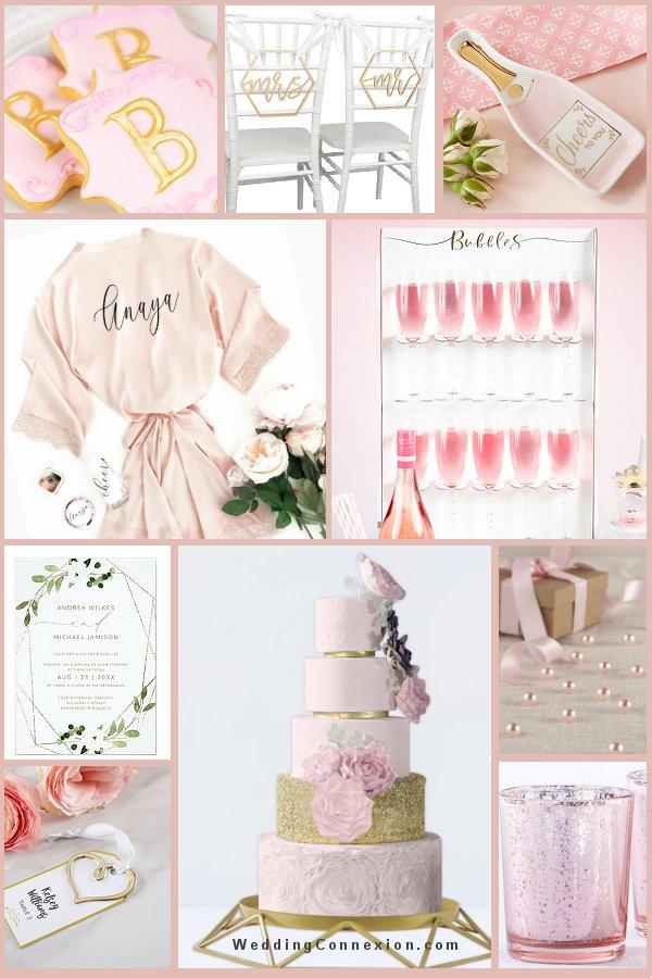Pink and Gold Modern Wedding Romance Theme - WeddingConnexion.com