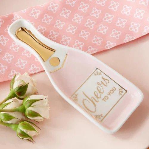 Pink Champagne Trinket Dish Favor