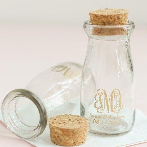 Blast From The Past Vintage Milk Jar Wedding Favors
