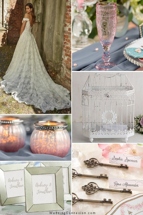 Romantic favor and decor ideas for a Blast From The Past wedding theme from WeddingConnexion.com