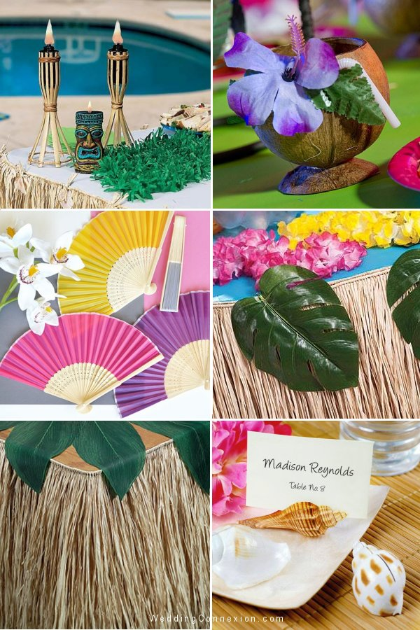 Visit us for decor and favor ideas for an exotic island vibe wedding theme and get inspired with exotic  decor and favor ideas from WeddingConnexion.com