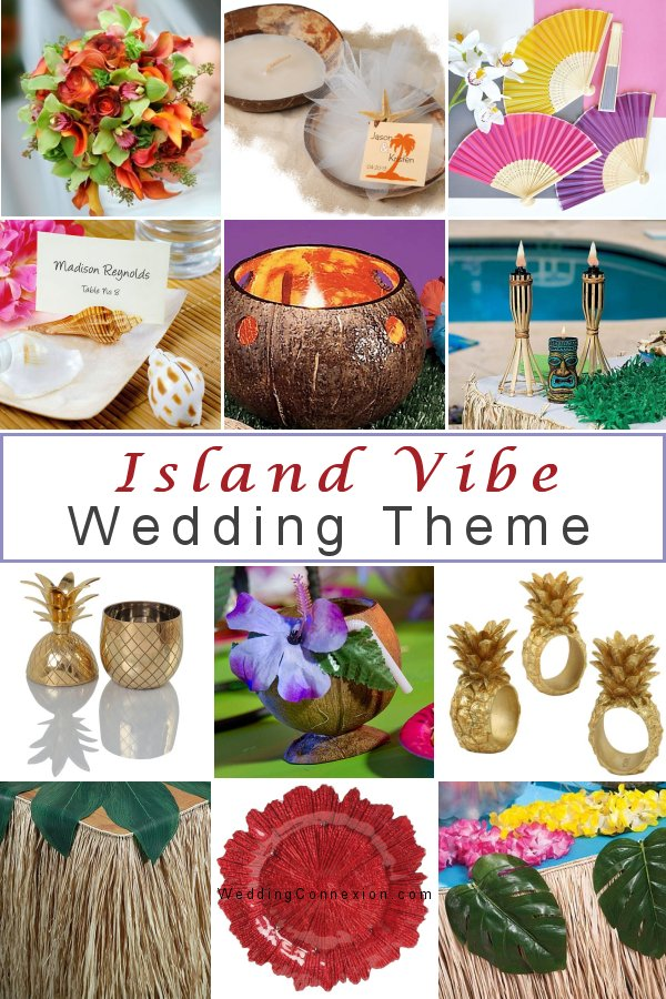 For your Island vibe wedding theme get inspired with exotic  decor and favor ideas from WeddingConnexion.com