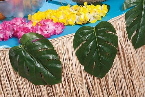 """Add an Island vibe to your wedding decor with these tropical  leaves. The Tropical Leave decorations are 11"""" long x 9"""" wide and are perfect for your tropical theme decor."""