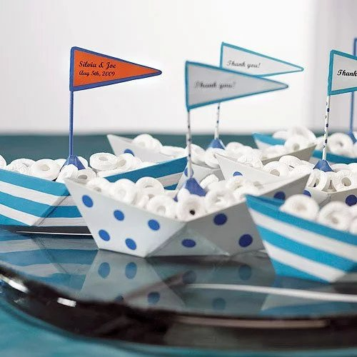 Mini Metal Sailboat Favors