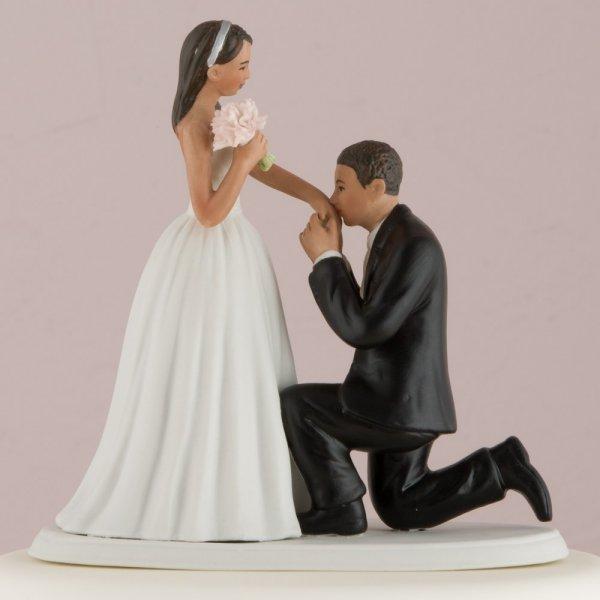 A Cinderella Moment Romantic Porcelain Figurine Couple Wedding Cake Topper