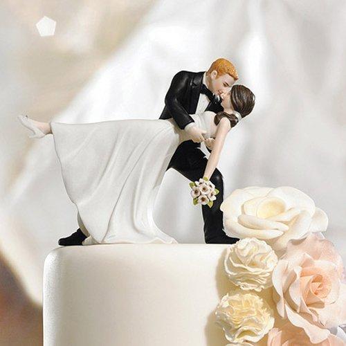 A Romantic Dip Romantic Porcelain Figurine Couple Wedding Cake Topper