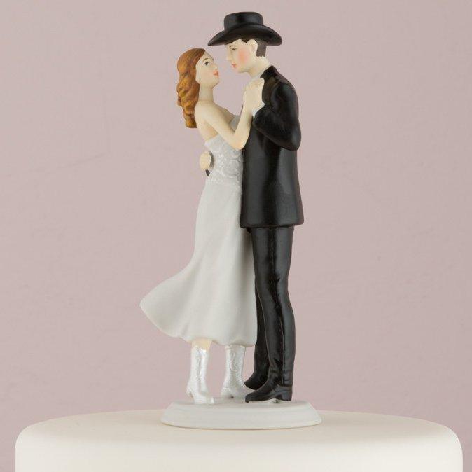 A Sweet Western Embrace Romantic Porcelain Figurine Couple Wedding Cake Topper
