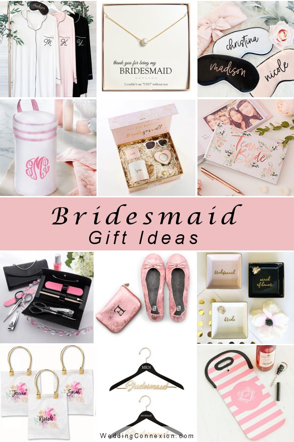 Get inspired with stylish bridesmaid gift ideas - Visit our blog at WeddingConnexion.com