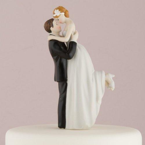 Love Swept Romantic Porcelain Figurine Couple Wedding Cake Topper