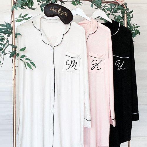 Monogram Sleep Shirt bridesmaid gift idea