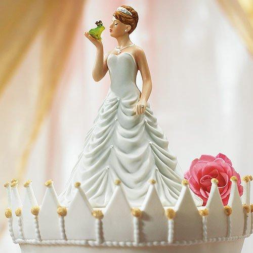 Princess And Frog Comical Porcelain Wedding Cake Topper