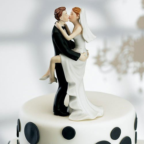 Sealed With A Kiss Romantic Porcelain Figurine Couple Wedding Cake Topper