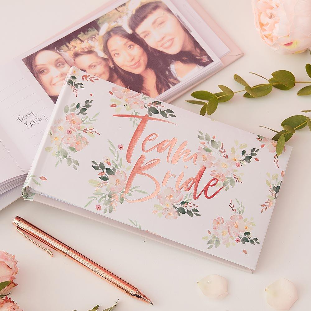 The theme bride photo album make for a wonderful keepsake for your bridesmaids.