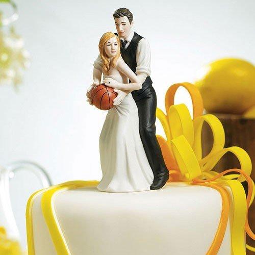 Basketball Sports Couple Figurine Wedding Cake Topper