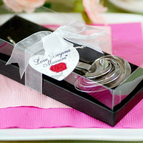 Tea Bridal Shower Heart Shaped Measuring Spoons