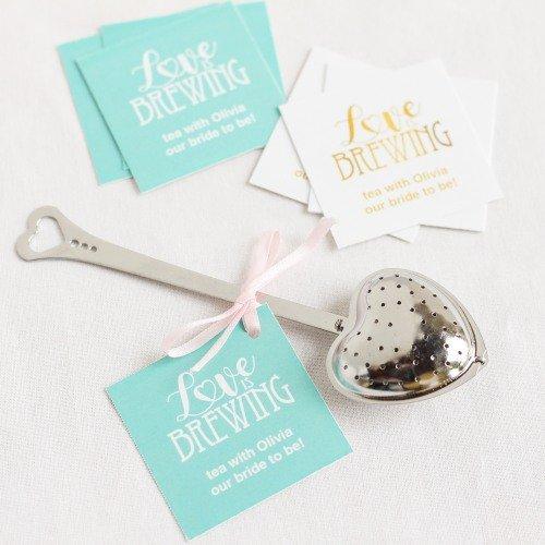Heart Shaped Tea Infuser Tea Bridal Shower Idea