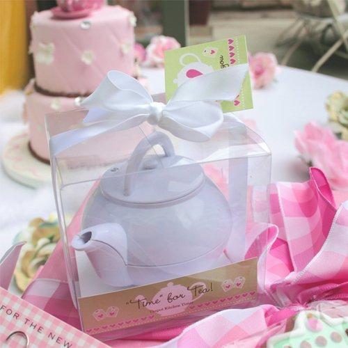 White Teapot Tea Bridal Shower Idea