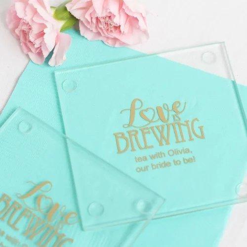 Glass Coaster Bridal Tea Shoer Favors
