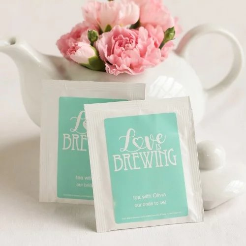 Personalized Tea Bags Tea Bridal Shower Idea