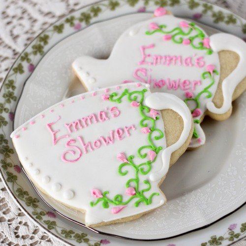 Tea Bridal Shower Personalized Tea cup Cookies